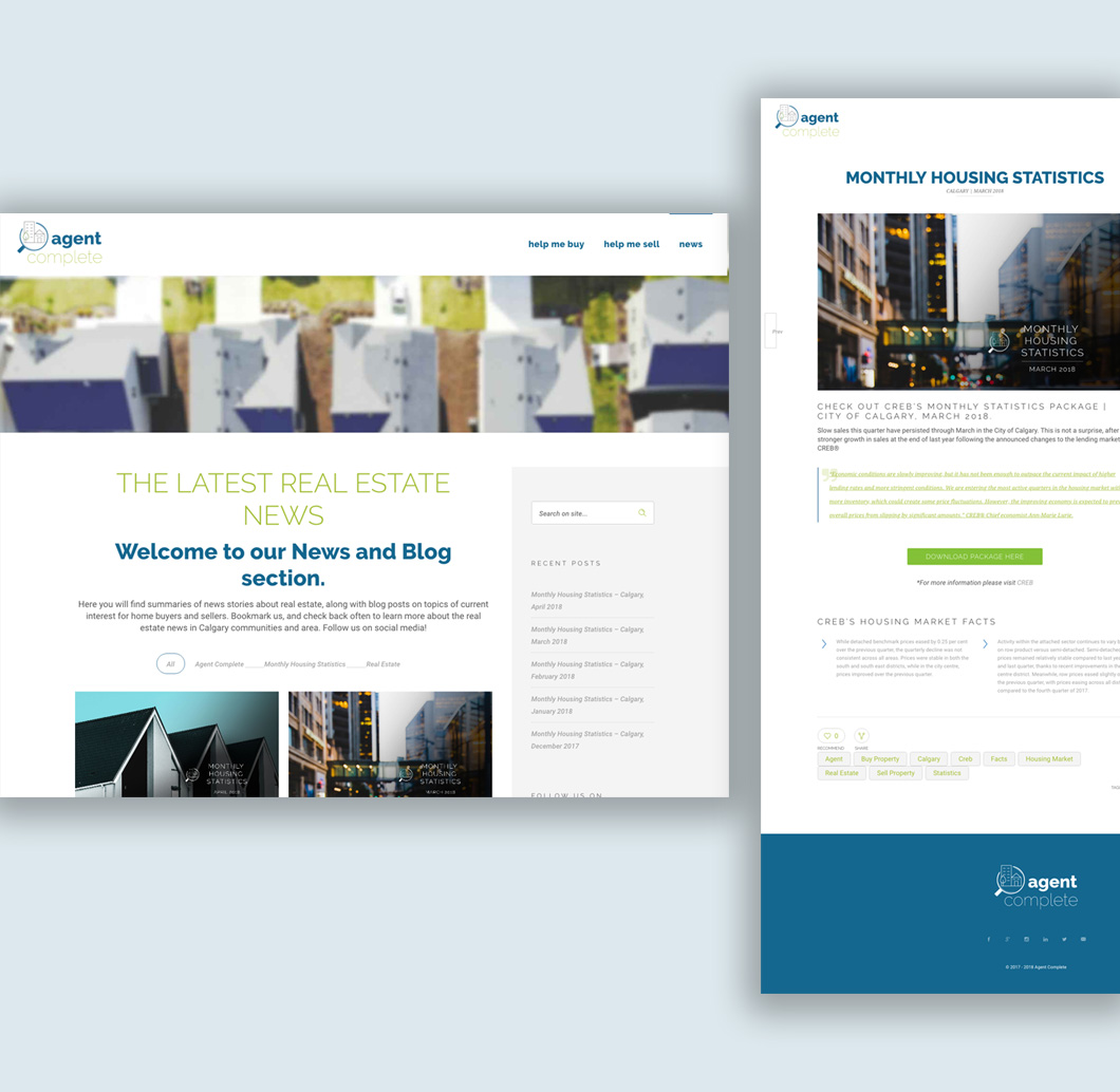 Agent Complete website design, graphic design, web development, wordpress