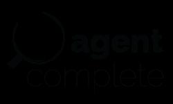Agent complete logo design black