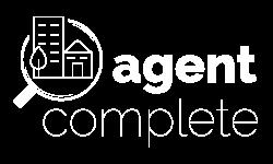 Agent complete logo design white