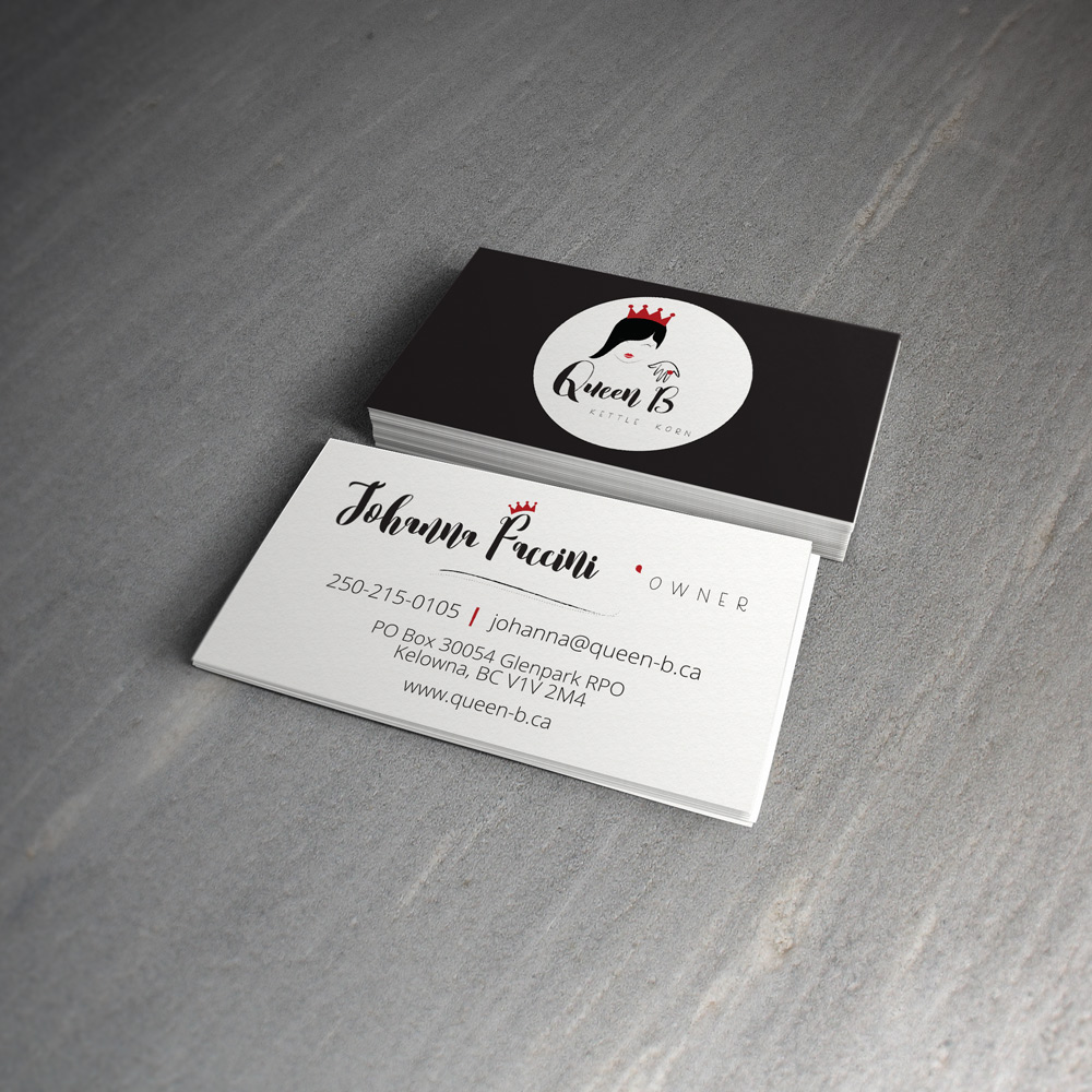 Queen B Business cards