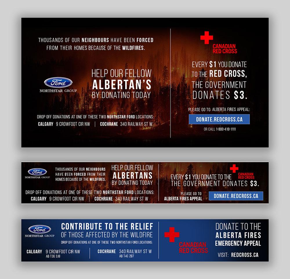 Northstar Ford website design, graphic design, banners, social media, wordpress