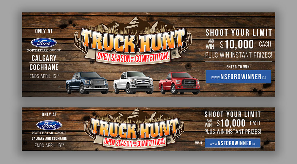 Northstar Ford website design, graphic design banners, social media, wordpress