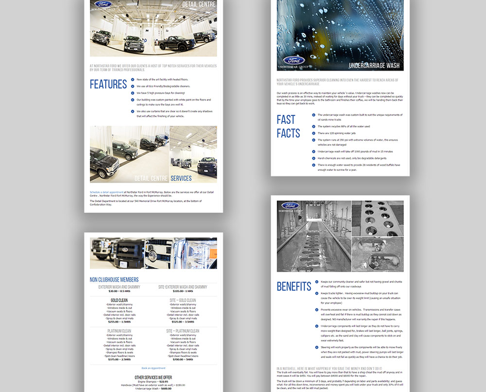 Northstar Ford website design, graphic design, web development, iframe, wordpress