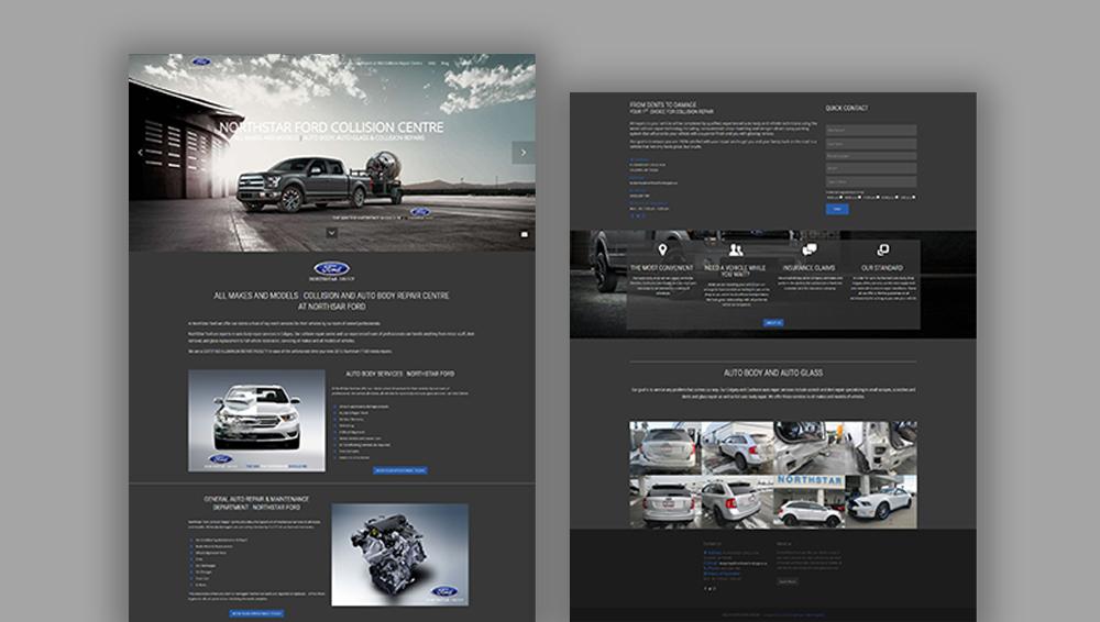 Northstar Ford website design, graphic design, web development, wordpress